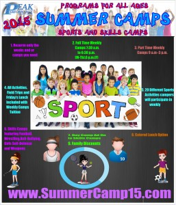 Peak Performance Summer Camp options