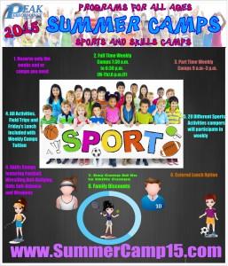 Peak Performance Summer Camp options